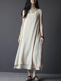 067cc6b10af Summer dress Loose fitting Long Sundress Maxi Dress in on Etsy