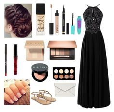 """""""Prom inspiration"""" by agrava ❤ liked on Polyvore featuring Accessorize, NARS Cosmetics, Bobbi Brown Cosmetics, NYX, Yves Saint Laurent, Clarins and Rebecca Minkoff"""