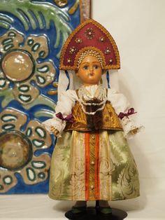 русская антикварная кукла. Боярышня, Дунаев.