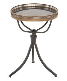 Loving this Metal & Marble Accent Table on #zulily! #zulilyfinds