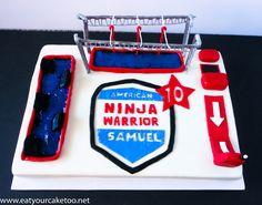 American Ninja Warrior obstacle cake #anwcake #anwobstaclecake #americanninjawarrior