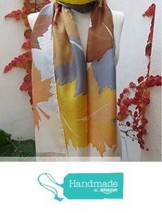 Pañuelo de seda Hojas de arce de ARTEySEDA https://www.amazon.es/dp/B01N0OO31Z/ref=hnd_sw_r_pi_awdo_WgXuybD9BXVHX #handmadeatamazon