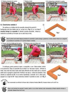 Cum se construieste un gratar din caramida? Bbq Grill Diy, Outdoor Barbeque, Brick Bbq, Brick Construction, Garden, Park, Photos, House, Brick Built Bbq