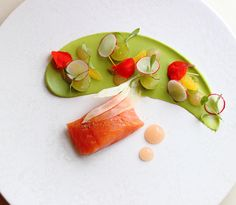 Slow Cooked Salmon, Pink Grapefruit, Avocado and Radish | Adam Smith