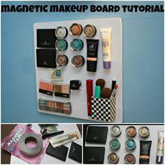 Magnetic makeup board | DIY Stuff
