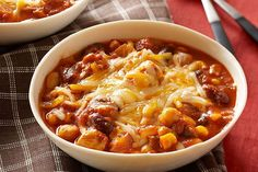 Try out this chicken chili recipe for a bowl of tastiness! Our Slow-Cooker Chunky Chicken Chili recipe fits into your smart eating plan and is convenient.