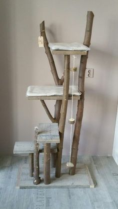 Legendäre coole DIY Bäume - Cat playground outdor - How to create a perfect outdoor play area Diy Cat Bed, Cats Diy, Diy Bed, Lit Chat Diy, Cat Climber, Kitten Toys, Cat Towers, Cat Shelves, Cat Playground
