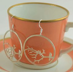 #birds branch #sterling #silver #earrings