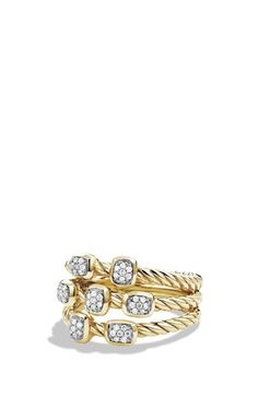 David Yurman 'Confetti' Ring with Diamonds in Gold available at #Nordstrom