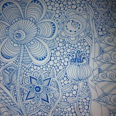 A page from my art journal. #Zentangle #doodle