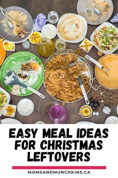 Do you have leftovers from your holiday meals and don't know your going to do with them? Here are some Easy Meal Ideas For Christmas Leftovers! Turn those scraps into a meal for the week! Recipe ideas. Easy Meal Ideas For Christmas Leftovers