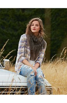 Flannel, Distressed Jeans! Trendy Stylish Outfit! ♡