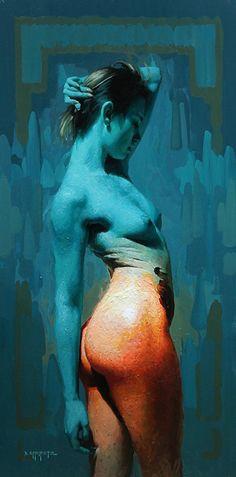 Pillar Infinite by David Cheifetz Oil ~ 36 x 18