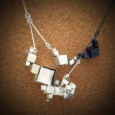 juan alejandro fried ortiz de zarate  boxes necklace - oxidized sterling silver 925 - 2015 (collar - plata oxidada) copyrighted metalarchill