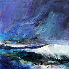 Patricia Sadler seascape — Rhythm of the Waves 4 Seascape Paintings, Nature Paintings, Oil Painting Abstract, Landscape Paintings, Landscape Photos, Watercolor Landscape, Abstract Landscape, Ocean Art, Ocean Waves