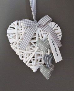 Weidenherz+~+Coll… – Best Home Decor Valentines Day Decorations, Christmas Tree Decorations, Christmas Crafts, Christmas Ornaments, Holiday Decor, Crafts To Sell, Diy And Crafts, Crafts For Kids, Arts And Crafts