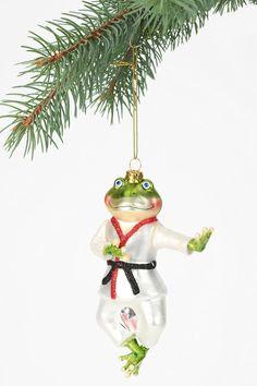 Karate Frog Ornament. UrbanOutfitters. Xmas 2012