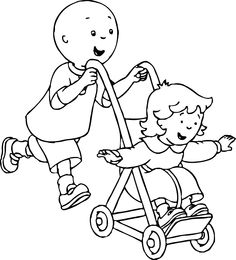 Awesome Caillou Coloring Page 2 Free Site