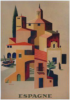 Vintage Travel Poster - Spain - Jean Vernier - 1960.