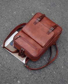 CPLEATHER Vintage Design Leather Travel Duffle Bag for Men and Women Dark Brown