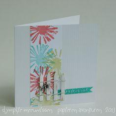 Papieren Avonturen: flower card