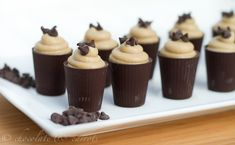 Chocolate Peanut Butter Mousse Cups