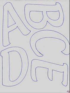 60 MOLDES DE LETRAS DIFERENTES PARA BAIXAR! - ALFABETOS LINDOS Free Printable Letter Stencils, Alphabet Templates, Printable Letters, Alphabet Letters To Print, Alphabet Code, Alphabet And Numbers, Letras Baby Shower, Scrapbook Borders, Scrapbook Journal