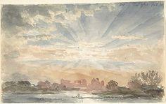 Landscape with Rising Sun, December 1, 1828, 8:30 a.m. - Joseph Michael Gandy (1771-1843)