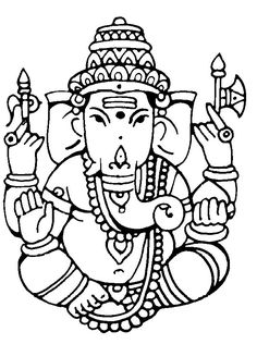 Love this Ganesh Outline. But with happy eyes!