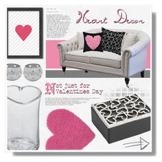 """""""Heart Decor"""" by foreverdreamt ❤ liked on Polyvore featuring interior, interiors, interior design, home, home decor, interior decorating, Simon Pearce, NOVICA, Americanflat and Michael Aram"""