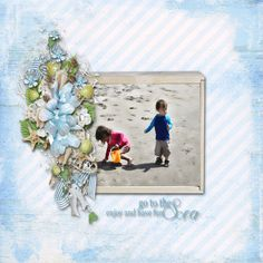 Go To The Sea by Eudora Designs is available at www.MyScrapArtDigitals.com and www.MemoryScraps.net.  Photo of cousins.