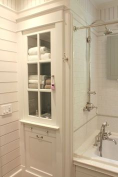 Great built-in linen cabinet