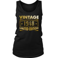 Womens Vintage 1948 70 Year Old Birthday Gift Tank Top