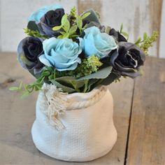 DIY Wedding Rose Peony Silk Flowers Bouquet Single Arrangements Artificial Deco