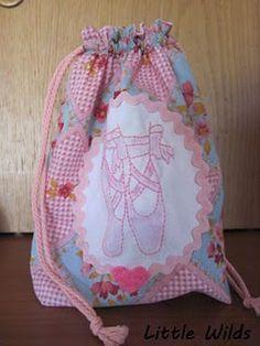 Drawstring bag ballet shoes