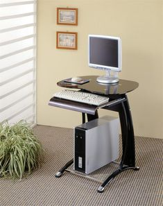 Ten Disadvantages of Computer Desk Ideas for Small Spaces and How to Avoid Them . - Ten Disadvantages of Small Desk Computer Desk Ideas and How to Avoid Them – Computer Desk Small Space, Small Room Desk, Computer Desk Design, Computer Desks For Home, Small Space Living Room, Desks For Small Spaces, Desk In Living Room, Home Living, Living Room Decor