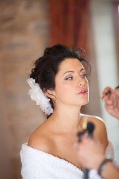 Wedding Hair and Makeup Wedding Hair And Makeup, Hair Makeup, Flower Makeup, One Shoulder Wedding Dress, Wedding Hairstyles, Our Wedding, Wedding Dresses, Flowers, Fashion