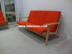 Danish Wegner Wooden Sofa