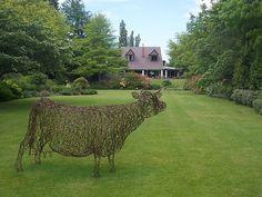 Garden Sculpture   ... › Portfolio › garden sculpture, Flaxmere Garden, New Zealand