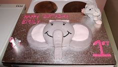 Girl elephant cake