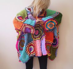 I have been crocheting since I was 7.  This is one of the coolest things I have made with granny squares.