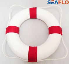 LIFE RING LIFE BUOY -  RED/WHITE -  swimming pool - lake - river - canal