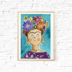 Your place to buy and sell all things handmade Watercolor Paper, Watercolor Paintings, Original Paintings, Cute Illustration, Character Illustration, Character Creation, Character Design, Kahlo Paintings, Sketches