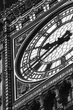 Big Ben London Black and White