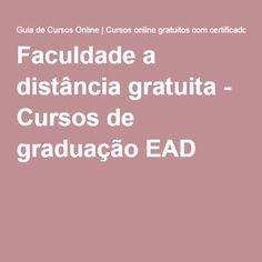 Faculdade a distância gratuita - Cursos de graduação EAD Professor, English Grammar, Learn English, Career, Language, Internet, Teacher, Good Things, Learning