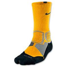 Men's Nike Hyper Elite Basketball Socks| FinishLine.com | Laser Orange/Black