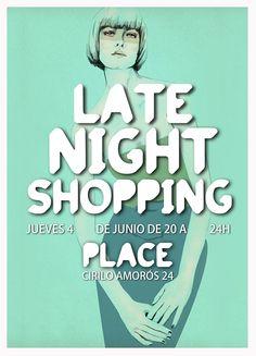Late Night Shopping on Place, Cirilo Amorós 24 Valencia.
