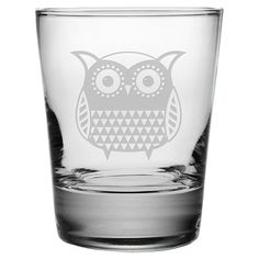 Owl Double Old Fashioned Glass