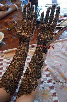 Full intricate Indian bridal mehndi to the elbow   #henna #bride #mehndi #art #indianwedding
