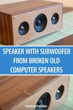 Upcycle old, broken JBL Creature computer speakers into a speaker with subwoofer. Best Computer Speakers, Home Speakers, Built In Speakers, Stereo Speakers, Stereo Amplifier, Custom Speaker Boxes, Speaker Box Design, Diy Electronics, Electronics Projects